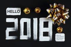 2018 liczb teksta i dekoracja Obraz Stock