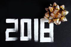 2018 liczb teksta i dekoracja Fotografia Stock