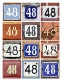 Liczba 48 zdjęcie stock