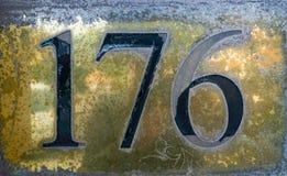 Liczba 176 obraz royalty free