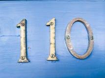 Liczba 110 zdjęcie stock