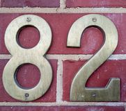 Liczba 82 zdjęcia stock