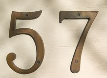 Liczba 57 fotografia stock