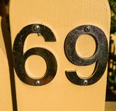 Liczba 69 obrazy stock