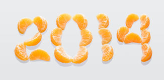 Liczba 2014 obrazy stock