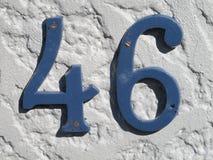 Liczba 46 zdjęcie stock