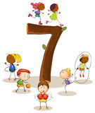 Liczba 7 Fotografia Stock