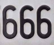 Liczba 666 obraz stock