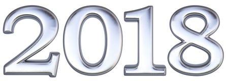 Liczba 2018 ilustracja wektor