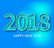 Liczba 2018 Błękit 2018 nowy rok powitanie Obrazy Stock