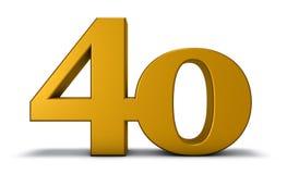Liczba czterdzieści Zdjęcie Stock