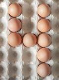 Liczba cztery zrobił Wielkanocni jajka obrazy stock