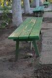 Liczba drewniane ławki Obrazy Stock