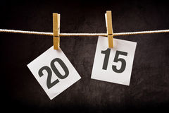 Liczba 2015 drukująca na papierze szczęśliwy pojęcie nowy rok Zdjęcia Royalty Free