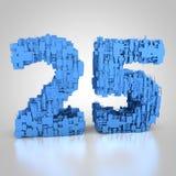 Liczba dwadzieścia pięć zrobił z technicznej tekstury ilustracja wektor