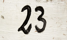 Liczba dwadzieścia trzy w drewnie Fotografia Stock