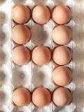 Liczba dziewięć zrobił Wielkanocni jajka zdjęcie royalty free