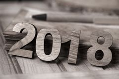 Liczba 2018 jako nowy rok, Zdjęcia Stock