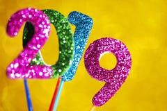 Liczba 2019 jako nowy rok, zdjęcia stock