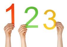 Liczba jeden, dwa, trzy Fotografia Stock