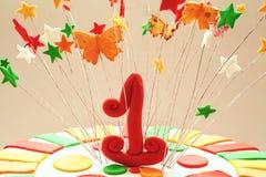 Liczba Jeden jako dekoracja Fotografia Stock