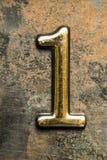 Liczba Jeden Pisze list Zdjęcie Royalty Free