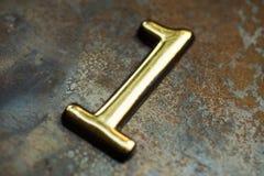Liczba Jeden Pisze list Fotografia Royalty Free
