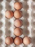 Liczba jeden zrobił Wielkanocni jajka Obraz Royalty Free