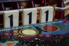 Liczba 1 kropli cele na Pinball maszynie Zdjęcia Royalty Free