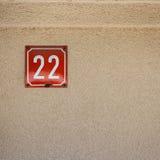 Liczba 22 na ścianie Zdjęcie Stock