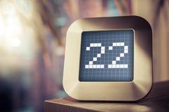 Liczba 22 Na kalendarzu, cieplarce Lub zegarze Cyfrowego, Zdjęcia Stock