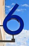 Liczba na niebie sześć Obrazy Royalty Free