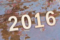 Liczba 2016 na retro roczniku Zdjęcie Stock
