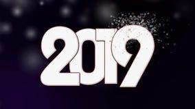 Liczba 2019, nowy rok z śniegiem zbiory