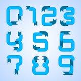 Liczba od (0) 9 w tasiemkowym kształcie Fotografia Royalty Free