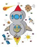 Liczba Osiem Jako rakieta W kosmos przestrzeni Obraz Stock