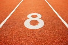 Liczba osiem na bieg śladzie Zdjęcie Stock