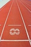 Liczba osiem na biegowym śladzie Zdjęcie Stock