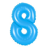 Liczba 8 osiem od balonów błękitnych Obrazy Stock
