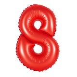 Liczba 8 osiem od balonów czerwonych Fotografia Royalty Free