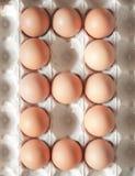 Liczba osiem zrobił Wielkanocni jajka fotografia stock