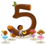 Liczba pięć Obrazy Stock