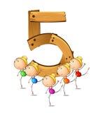 Liczba pięć Obraz Stock