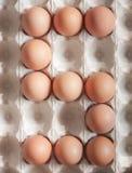 Liczba pięć zrobił Wielkanocni jajka obrazy royalty free