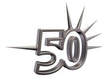 Liczba pięćdziesiąt z prickles Zdjęcie Stock