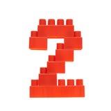 Liczba robić zabawkarskie budynek cegły Obrazy Royalty Free