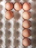 Liczba siedem zrobił Wielkanocni jajka obraz stock