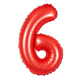Liczba 6 sześć od balonów czerwonych Obraz Royalty Free
