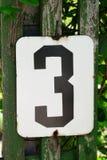Liczba trzy Zdjęcie Stock