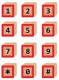 Liczba w Drewnianym bloku Obraz Royalty Free